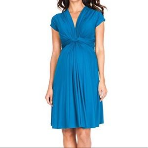 Seraphine Jolene knot front maternity dress